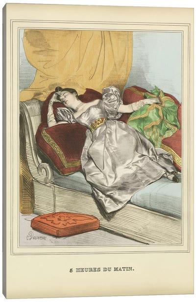 Vintage Woman Ad II Canvas Art Print