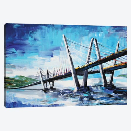 Cool Bridge Canvas Print #PIE100} by Piero Manrique Canvas Artwork