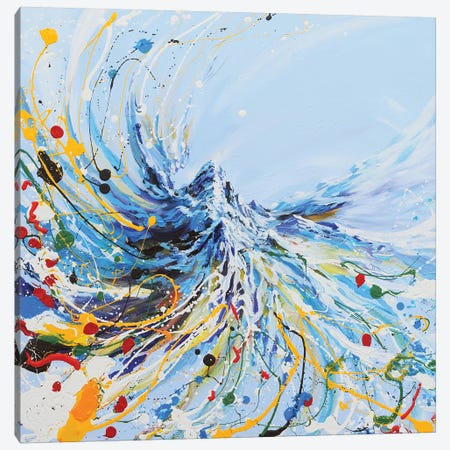 Dancing Mountain Canvas Print #PIE101} by Piero Manrique Canvas Artwork
