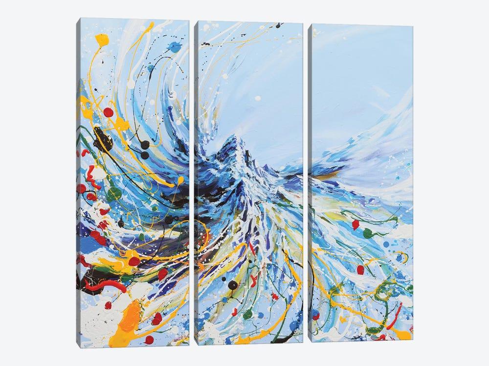 Dancing Mountain by Piero Manrique 3-piece Canvas Print