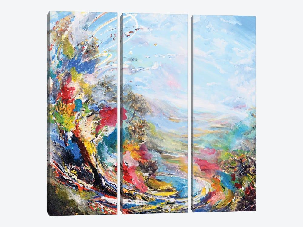 Dream Landscape by Piero Manrique 3-piece Canvas Print