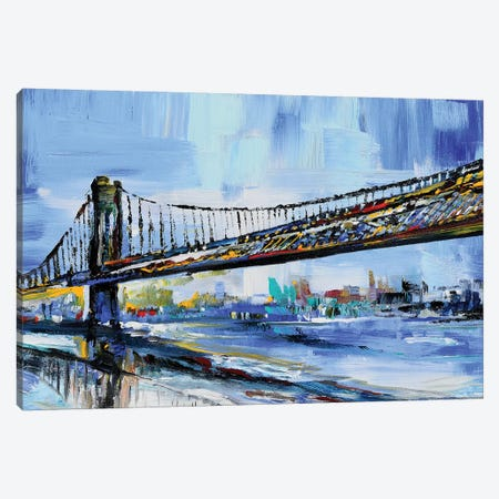 Long Bridge Canvas Print #PIE108} by Piero Manrique Canvas Wall Art