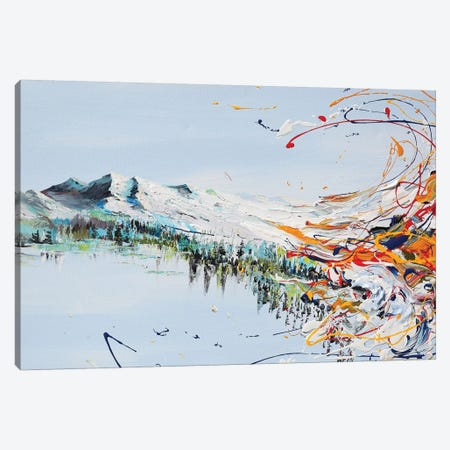 Mountain Flow Canvas Print #PIE111} by Piero Manrique Art Print