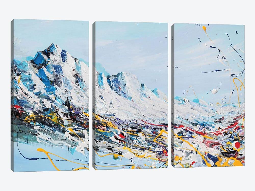 Mountain Fun by Piero Manrique 3-piece Canvas Art Print