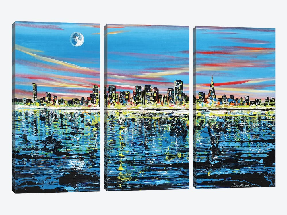 San Fransisco by Piero Manrique 3-piece Canvas Print