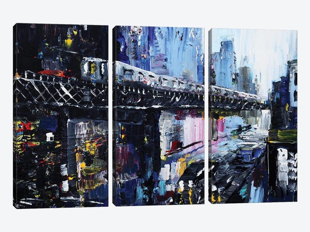 Subway by Piero Manrique 3-piece Canvas Print