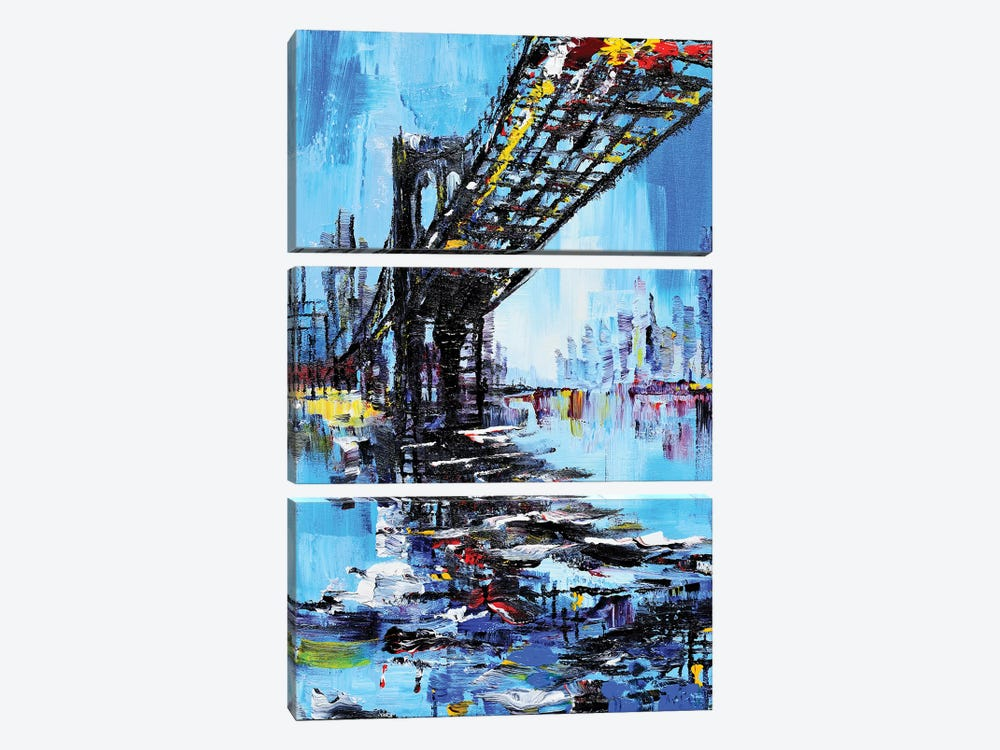 Tall Bridge by Piero Manrique 3-piece Canvas Wall Art
