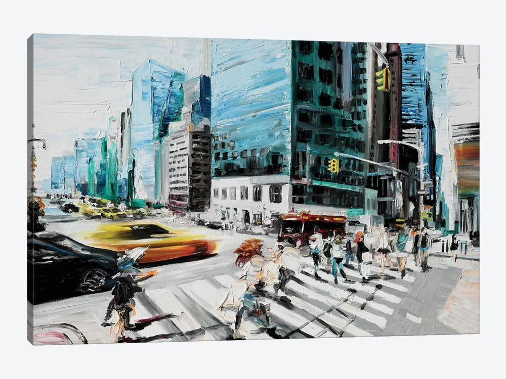 Walking In The Streets by Piero Manrique 1-piece Canvas Art