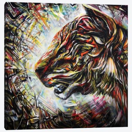 Wild Cat Canvas Print #PIE121} by Piero Manrique Canvas Art