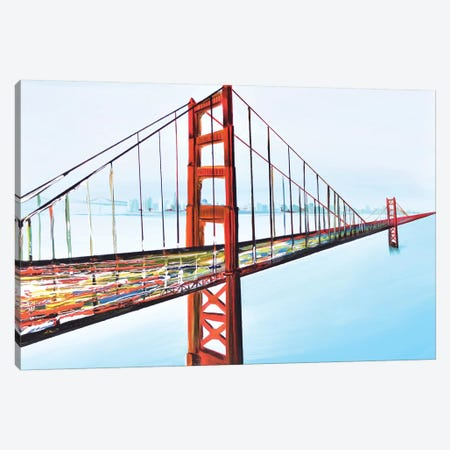 Golden Gate Bridge Canvas Print #PIE24} by Piero Manrique Canvas Art Print