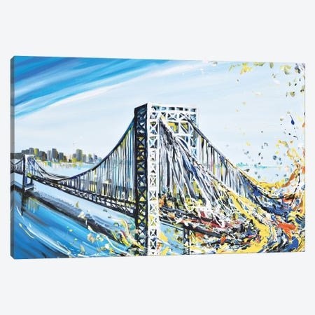 GW Bridge Canvas Print #PIE26} by Piero Manrique Canvas Art Print