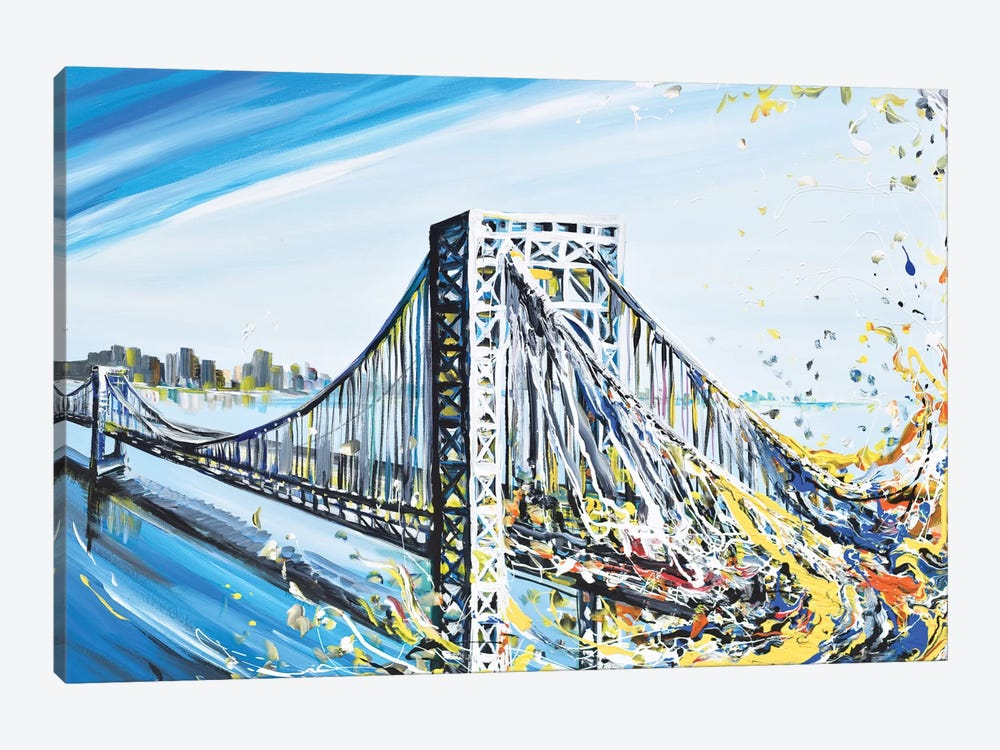 GW Bridge by Piero Manrique 1-piece Canvas Print