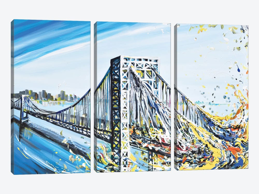 GW Bridge by Piero Manrique 3-piece Canvas Art Print