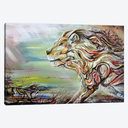 Lion Heart Canvas Print #PIE29} by Piero Manrique Canvas Wall Art