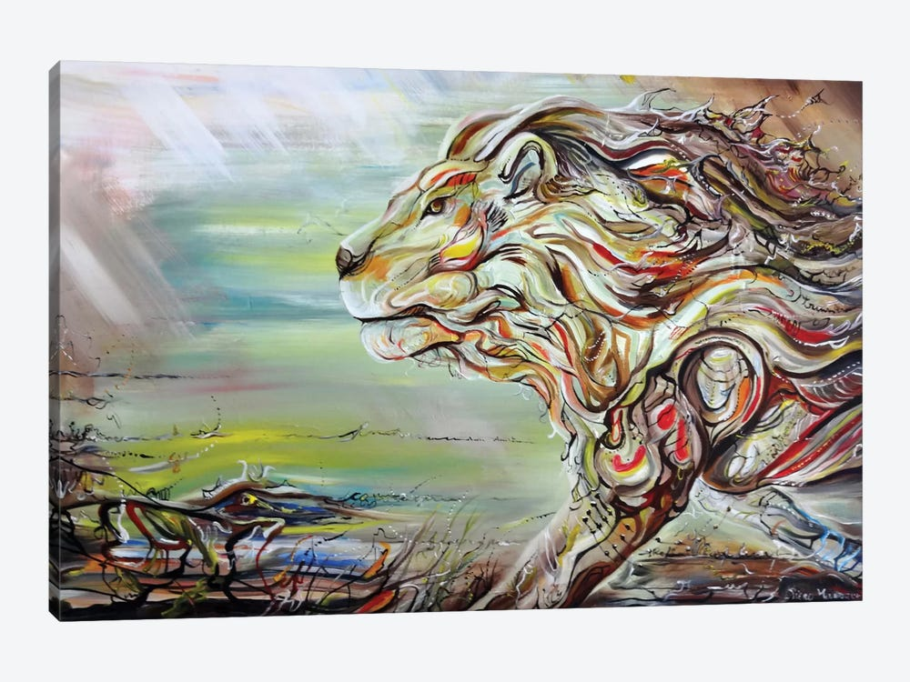Lion Heart by Piero Manrique 1-piece Canvas Wall Art