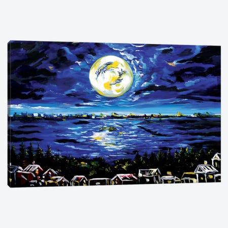 Moon Landscape Canvas Print #PIE33} by Piero Manrique Canvas Print
