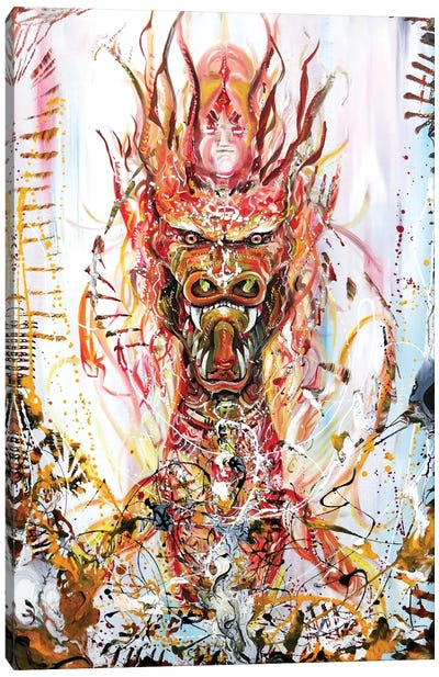Riding Canvas Art Print