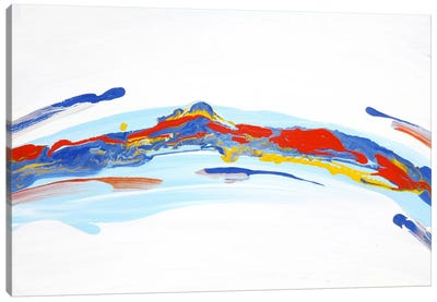 River Mountain Canvas Art Print
