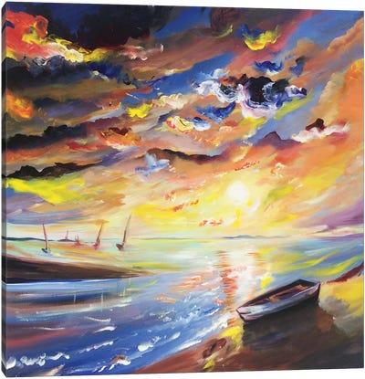 Sailor Sunset by Piero Manrique Canvas Art Print