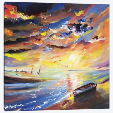 Sailor Sunset Canvas Print #PIE50} by Piero Manrique Canvas Art Print