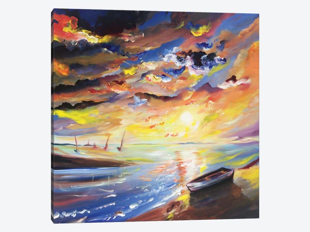 Sailor Sunset by Piero Manrique 1-piece Canvas Wall Art