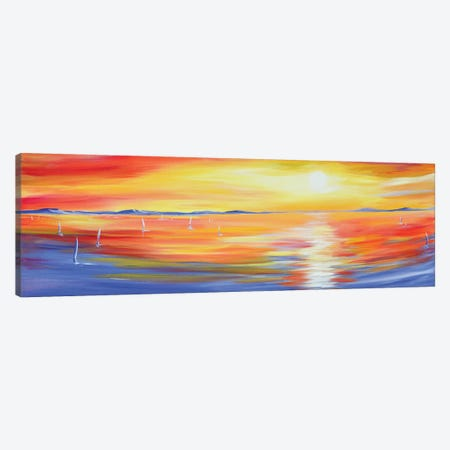 Sun Glow Canvas Print #PIE57} by Piero Manrique Canvas Wall Art