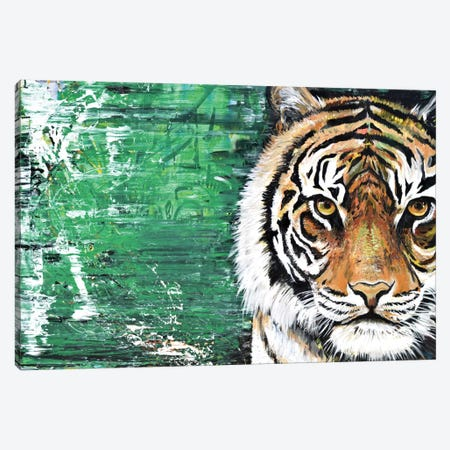 Tiger Canvas Print #PIE59} by Piero Manrique Art Print