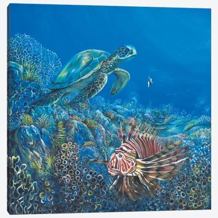 Blue Canvas Print #PIE5} by Piero Manrique Canvas Art Print