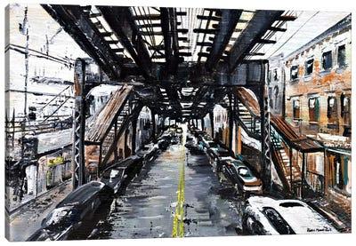 Under The Train Canvas Art Print