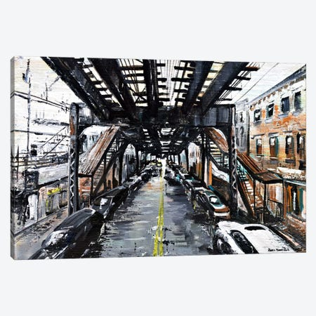 Under The Train Canvas Print #PIE61} by Piero Manrique Canvas Wall Art
