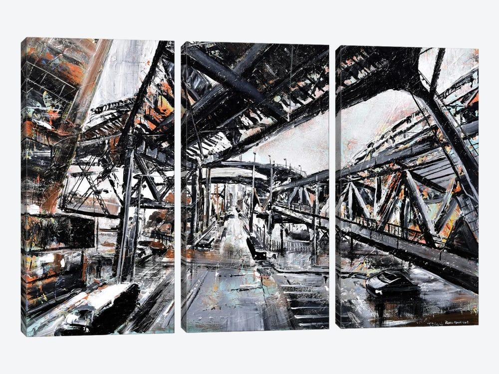 Urban View by Piero Manrique 3-piece Canvas Art Print