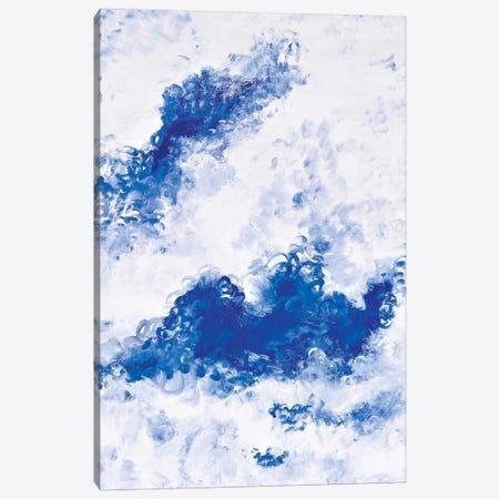 Blue Bubbles Canvas Print #PIE6} by Piero Manrique Canvas Art Print