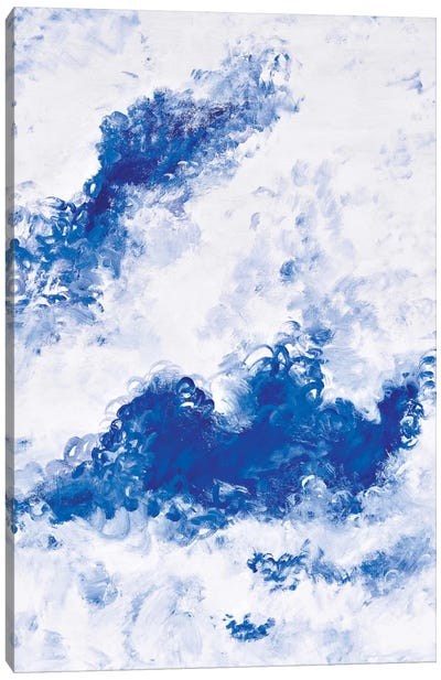 Blue Bubbles Canvas Art Print