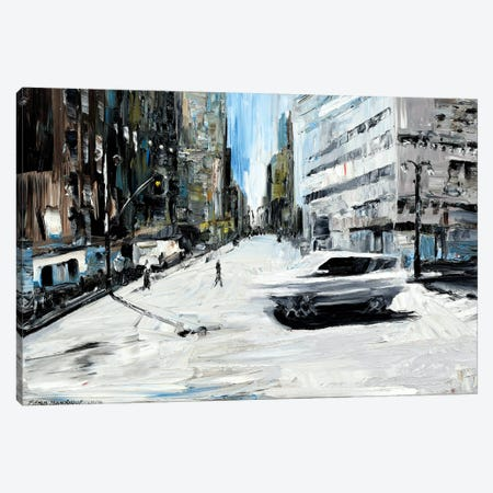 Running Car Canvas Print #PIE73} by Piero Manrique Canvas Print