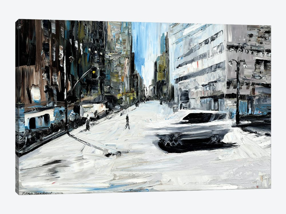 Running Car by Piero Manrique 1-piece Art Print