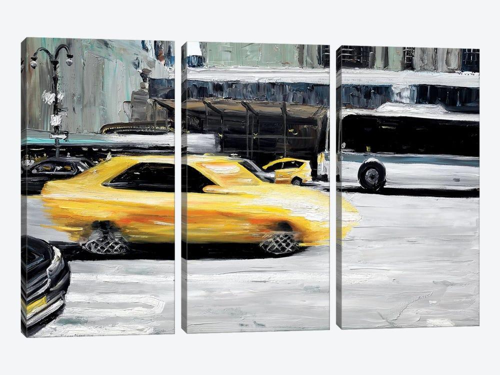 Speed by Piero Manrique 3-piece Canvas Wall Art