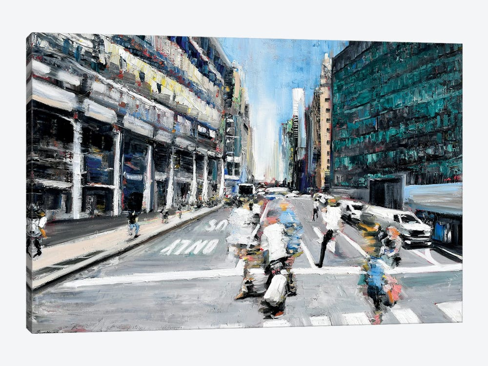 Street Motion by Piero Manrique 1-piece Canvas Art Print