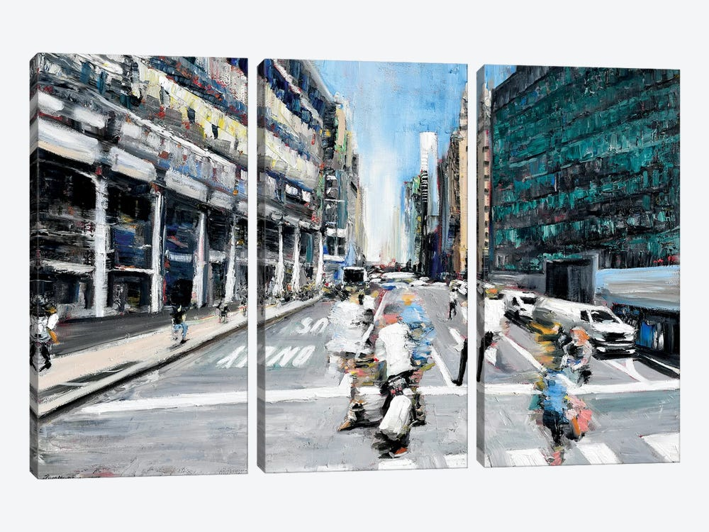 Street Motion 3-piece Art Print