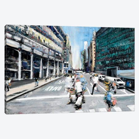 Street Motion Canvas Print #PIE75} by Piero Manrique Canvas Wall Art