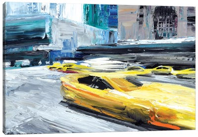 Taxi Ride Canvas Art Print