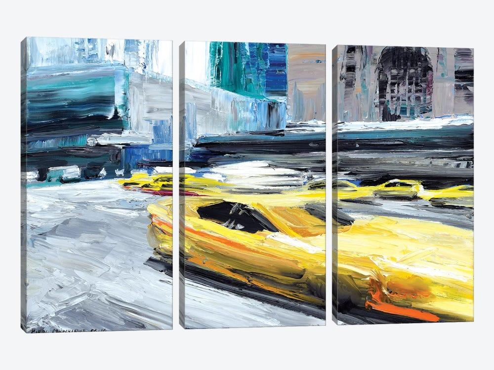 Taxi Ride by Piero Manrique 3-piece Canvas Artwork