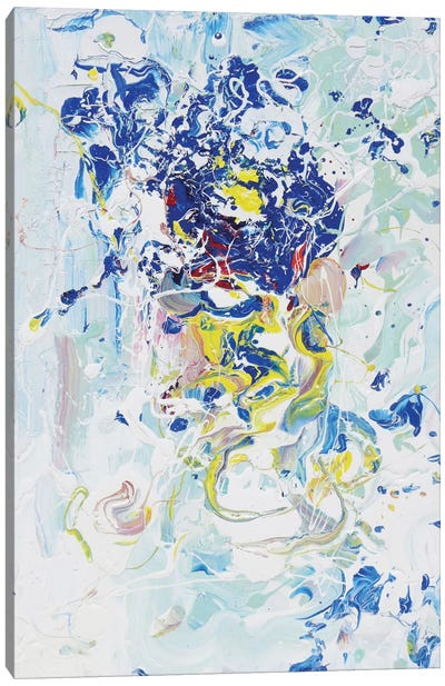 Blue Energy Canvas Art Print