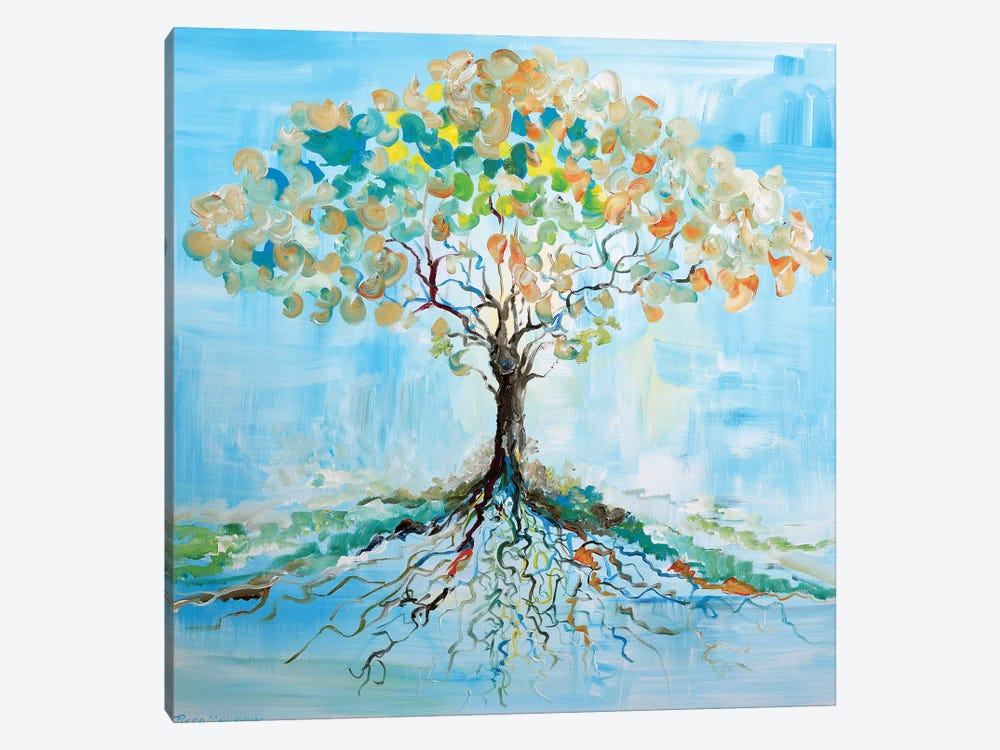 Candy Tree by Piero Manrique 1-piece Canvas Print