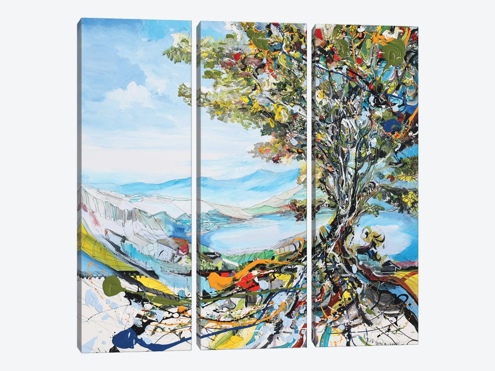 Festivity Tree by Piero Manrique 3-piece Canvas Wall Art
