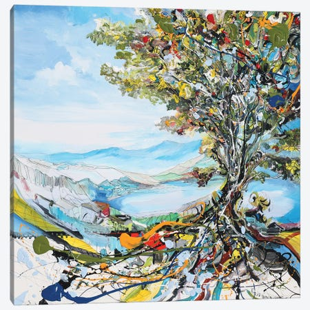 Festivity Tree Canvas Print #PIE81} by Piero Manrique Canvas Artwork