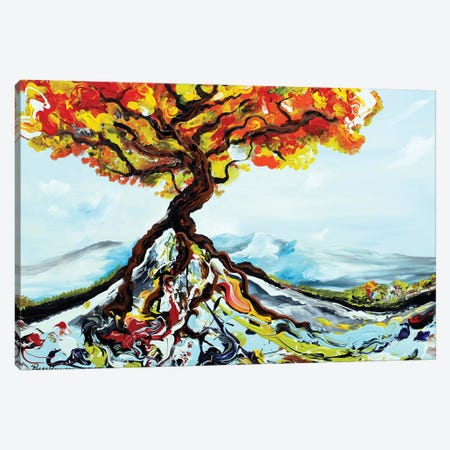 Growing Tree Canvas Print #PIE83} by Piero Manrique Canvas Art