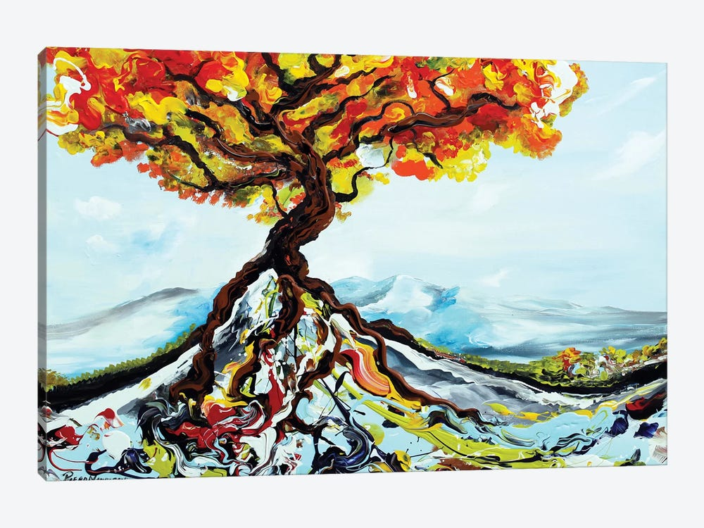 Growing Tree by Piero Manrique 1-piece Canvas Artwork