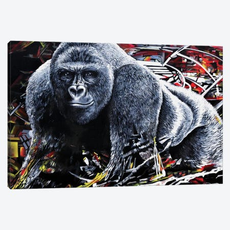 Harambe Canvas Print #PIE86} by Piero Manrique Canvas Print