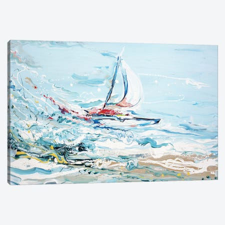 Sailing Canvas Print #PIE89} by Piero Manrique Canvas Wall Art