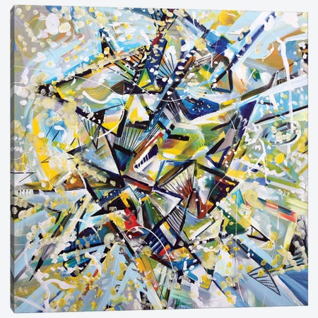 Star Canvas Print #PIE91} by Piero Manrique Art Print